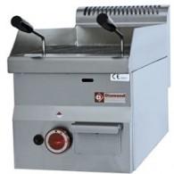 Lavasteengril op gas met braadrooster in gietijzer -Top-, 300x600xh280/400