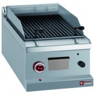 Lavasteengrill op gas, braadrooster in -O- -Top-, 400x700xh250/320