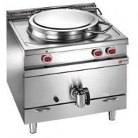 Gaskookketel direkte verwarming, 100 liter, 900x900xh850/920