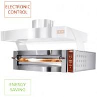 Elektrische oven, 1 kamer, 6 pizza's Ø 350 mm, 1550x1100xh440