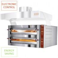 Elektrische oven, 2 kamers, 2x 6 pizza's Ø 350 mm, 1190x1460xh780