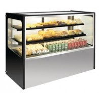 GG217  RVS display vitrine 400 ltr.1200(h)1200(b)715(d).