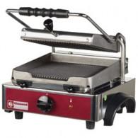 Elektrische panini grill, geribde platen, 330x435xh240