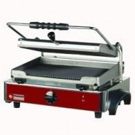 Elektrische panini grill MEDIUM, geribde platen, 435x430xh240