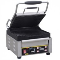 L511  Buffalo contact grill, Platen boven gegroefd, onder glad.