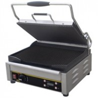 L518  Buffalo medium contact grill, Beide platen gegroefd