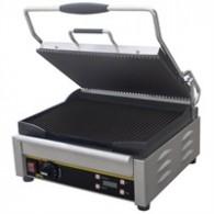 L518  Buffalo medium contact grill, Beide platen gegroefd