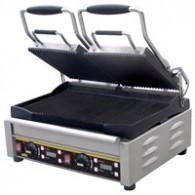L553  Buffalo dubbele contact grill, Allen platen glad.