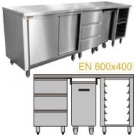 Module voor patisserie 1500 samengesteld MCP-3T/05 + MCP-TR/05 + MCP-SG/05 + MCP-TOP/15,1500x700xh900