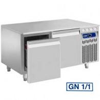 Gekoeld onderstel, 2 laden GN 1/1-h 200 mm, 1200x700xh630/650