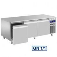 Gekoeld onderstel, 3 laden GN 1/1-h 200 mm, 1600x700xh630/650