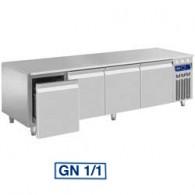 Gekoeld onderstel, 4 laden GN 1/1-h 200 mm, 2000x700xh630/650