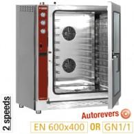 Convectie oven op gas, 10x EN(GN) automatische bevochtiger,  905x855xh1130