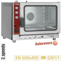 Convectie oven op gas, 5x EN(GN) automatische bevochtiger, 905x855xh760