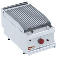 "Gas lavasteengrill - 1/2 module - bakrooster in ""Z""-vorm, 400x700xh330"