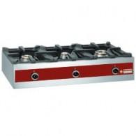 Gasbrander, tafelmodel - 3 branders (1x 7,2 kW + 1x 5,5 kW + 1x 3,2 kW),