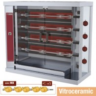 Vitroceramisch kippenspit, 4 spitten (20 kippen), 1200x500xh1065