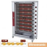 Vitroceramisch kippenspit, 8 spitten (40 kippen), 1200x500xh1880