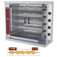 Kippenspit gas, 4 spitten (20 kippen), 1200X500XH1065