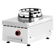 Wok gasvuur tafelmodel, 1 vuur (15 kW), 400x600xh280/325